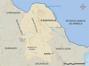 Map Coahuila Mexico